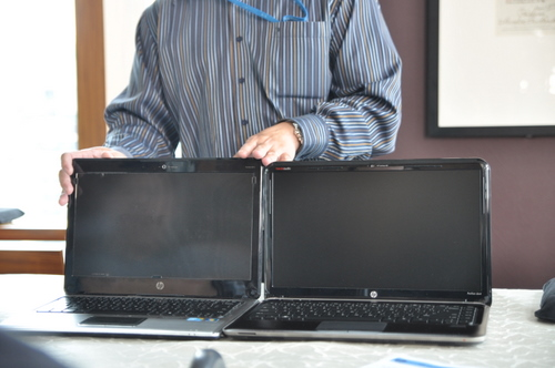 The HP Pavilion dm4 has the form factor of a conventional 13-inch machine, but sports a bigger 14-inch screen.
