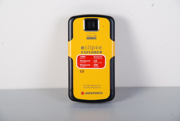 The eClipse Explorer has a bright utility-yellow finish framed with black highlights. It is one of those rugged models that you can take with you during hikes or afternoons at the pool. It is dustproof, waterproof, shockproof, and can shoot in full HD 1080p resolution.