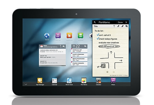 Yup, the new tablet will have a larger screen size than the Samsung Galaxy Tab 8.9 shown here. (Image source: Samsung)