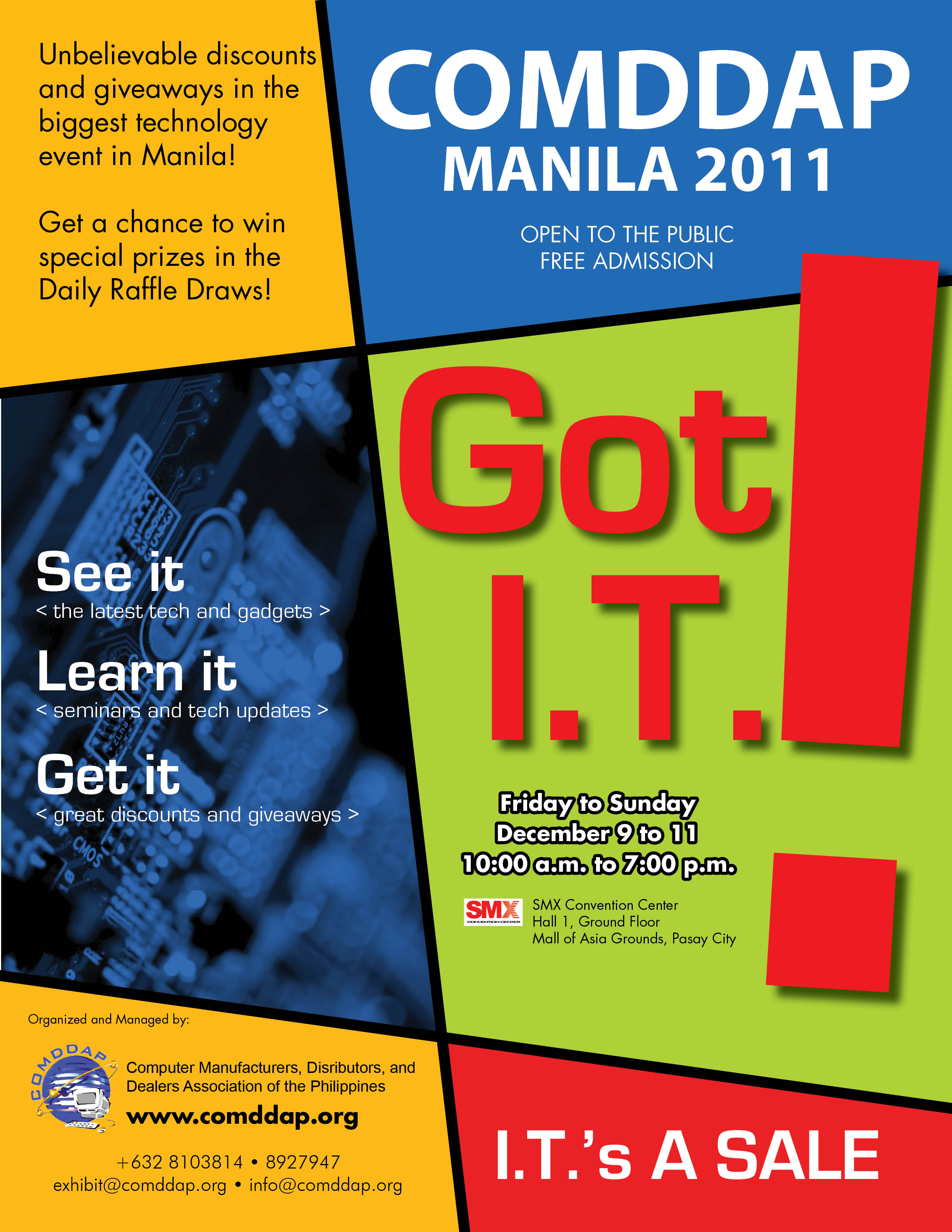 Click the image to have a larger view of the 28th COMDDAP Manila 2011's poster.