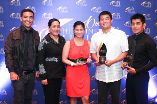 (From left to right) Stratworks Head Writer Ryan Caidic, Accounts Supervisor Cathy Albaniel, HP IPG Marcomm and PR Manager Bea Aldeguer, HP IPG Consumer Sales Manager Charles Lizares, and Stratworks Senior PR Manager Harold Geronimo.