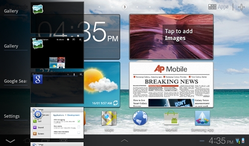 You are still unable to close or quit apps from the multitasking menu on the Samsung Galaxy Tab 7.0 Plus. However, you can do that using the Program monitor widget or the Task Manager app.