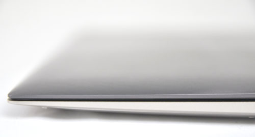 The edges of the notebook are very sharp. An odd design element we've seen on other Ultrabooks as well.