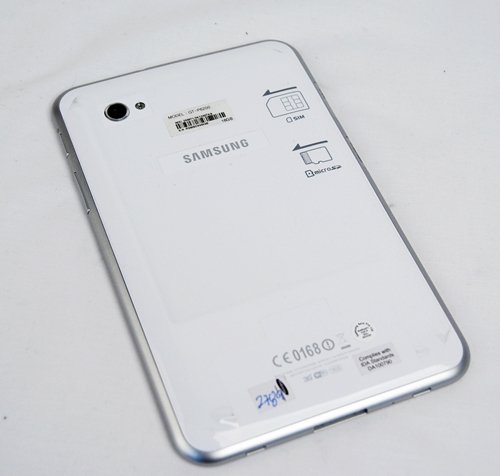 There is nothing much on the back of the Samsung Galaxy Tab 7.0 Plus except for the 3-megapixel rear autofocus camera with LED flash.