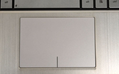 The trackpad is clickable, making it a clickpad, which is one of our favorite unofficial Ultrabook features. However, the implementation by ASUS left us unimpressed. More details later in the review.