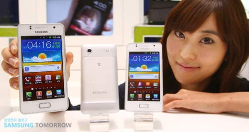 The white Samsung Galaxy Note (left) is seen here with the new Samsung Galaxy M Style (right). Source: Samsung Tomorrow