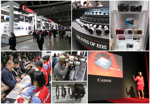 Canon owned the largest booth at the CP+ 2012 show floor and it was bustling with activity from the moment the event went live.