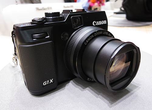The PowerShot G1 X (US$ 799.99) drew the largest crowds at Canon's compact camera exhibit at CP+ 2012.