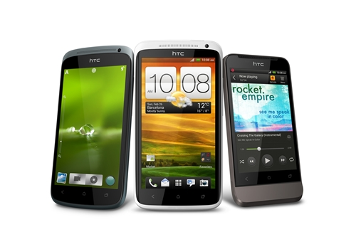 From left to right: HTC One S, HTC One X and HTC One V. Image source: HTC