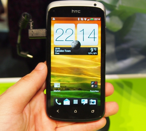We liked the 4.3-inch Super AMOLED display on the HTC One S.