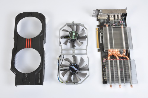 We took apart the cooler assembly to get a better look at what's under the hood of the HD 7950 DirectCU II TOP.