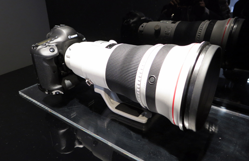 The EOS-1D X, shown here with the Canon EF 400mm f/2.8L IS II USM lens.