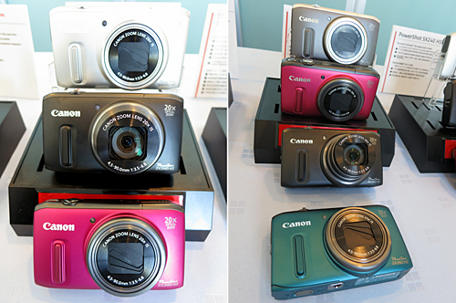 Fans of the previous iterations of the Canon PowerShot SX super-zoom camera line will be thrilled to know that the new models, the SX240 HS and SX260 HS (US$ 349.99) now boast a 20x optical zoom range (25-500mm) while maintaining the signature compact form factor! The 12.1-megapixel Canon HS system-based super-zoomers share most of the key specifications, but the SX240 HS bears the distinction of being the slimmest 20x optical zoom compact camera to date (at 33mm thin), while the SX260 HS adds the advantage of having a built-in GPS module for image geotagging.