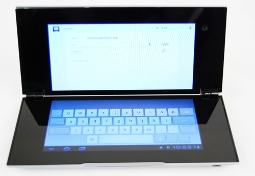 Email, one of the most commonly used apps on tablets, is also optimized for use on the Sony Tablet P. The virtual keyboard occupies the screen at the bottom while the main body of the email stays at the top. The experience is akin to typing on a laptop although 5.5-inch screens are too uncomfortable for long periods of typing.