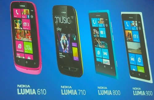 Introduced at MWC 2012 was the Nokia Lumia 610, the company's most affordable Windows Phone device yet. The flagship model, Lumia 900 will be shipped globally in Q2 2012.