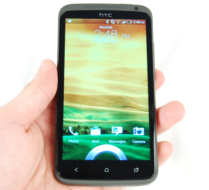 Seen here is the HTC One X with its 4.7-inch Super LCD 2 display.