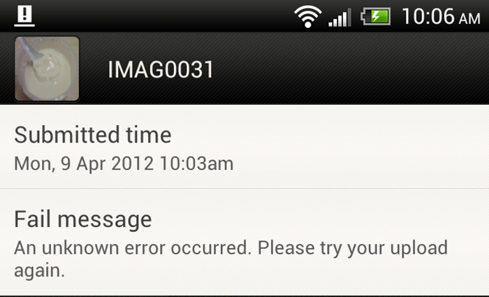 You can't upload pictures via Facebook for HTC Sense at the moment. A future software update will fix this problem.