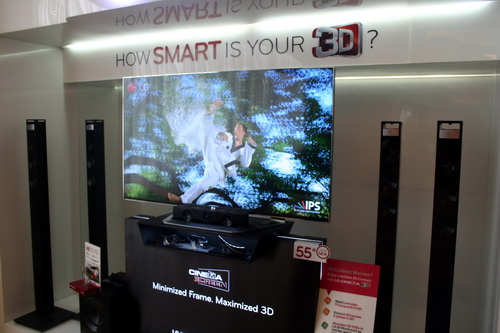 The LM9600 is the top-of-the-line model of LG's Cinema 3D Smart TV line for 2012. Sporting a 55-inch display, the LM9600 sells in the Philippines for the price of PhP 299,990.