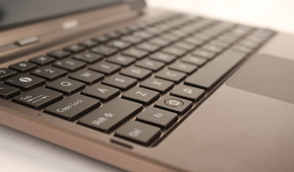 The chiclet keyboard is comfortable to type on, thanks to the sufficiently raised keys and minimal flex.