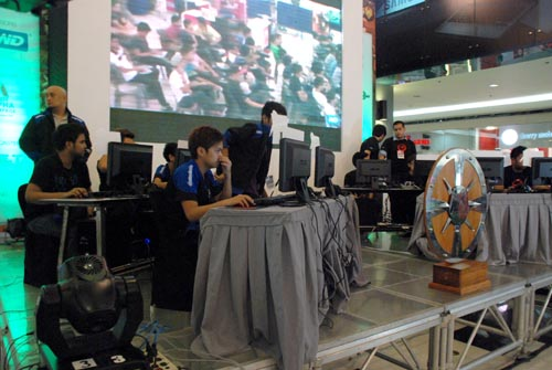 Tensions were high as both an online stream and live audience watched the players' every move.