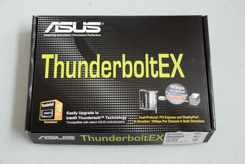 The retail packaging of the card shows a design similar to that found on mainstream ASUS motherboards, although this one is much smaller in terms of size.