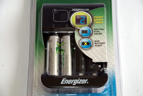 The Energizer Recharge Smart has four compartments that can host AA and AAA type NiMH batteries.