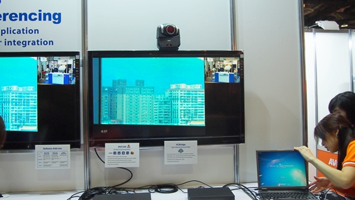 Aver booth at CommunicAsia 2012