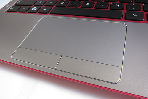 The touchpad is pleasantly large, but also like the Series 5 Ultra, the Series 5 Slim avoids the buttonless clickpad design that is commonly being adapted on many Ultrabook designs.