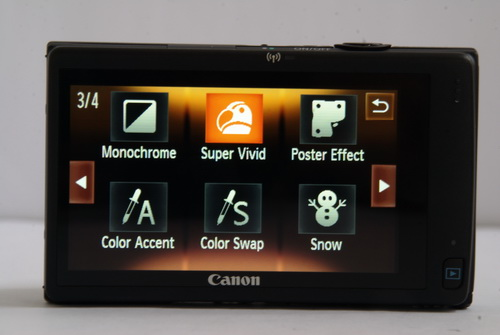 Another set of shooting modes and effects that the 240 HS has.