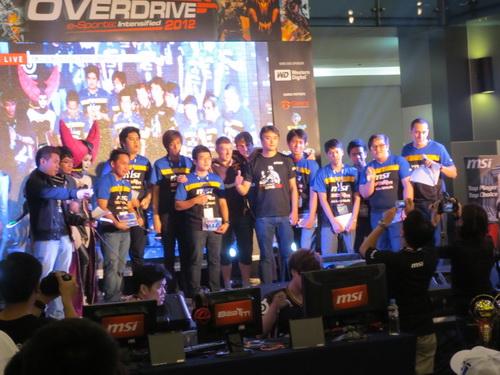 More gamers grabbed spotlight at MSI Overdrive 2012.