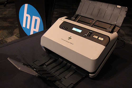 The Scanjet Enterprise 7000 s2 may be HP's most compact desktop scanner, but it's steps up for the job whenever needed.