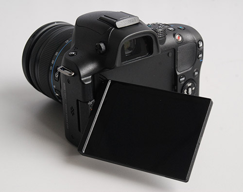 The rotatable LCD display comes in handy when the camera is attached to a tripod.