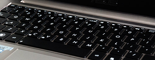 The keyboard is illuminated this time and the user is able to control how strong the illumination is.