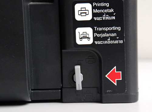 The L800 ink tank system features a choke valve which controls the flow of ink from the ink tanks to the print head. This mechanism is useful when transporting the printer since it minimizes the chances of a leak.