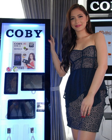 Filipina celebrity Maja Salvador is the official ambassador of Coby Kyros tablets in the Philippines.
