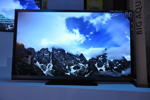 The 80-inch AQUOS LC-80LE940X 3D HDTV integrates premium features such as Sharp's Quattron 4-color and UV2A technology, and AquoMotion Pro native 200/240Hz panel with backlight control. SRP: PhP 599,998