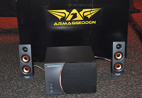 Armaggeddon's gaming speaker, the A5 Armaggeddon.