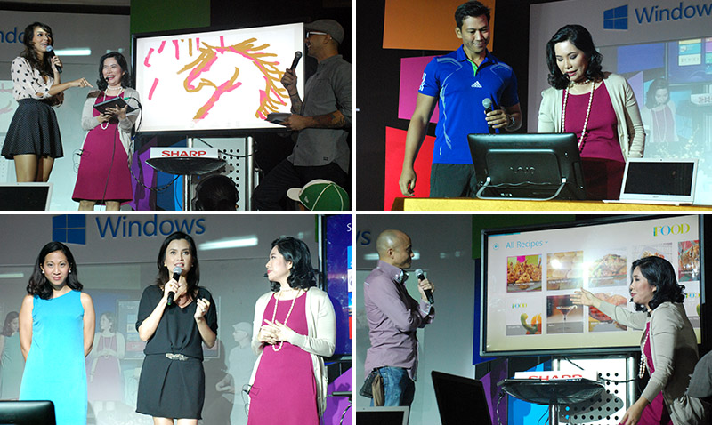 Each celebrity endorser explained and demoed the various lifestyle features of Windows 8. Whether it's about fitness or food, Microsoft's newest OS has a practical application for all types of activities.