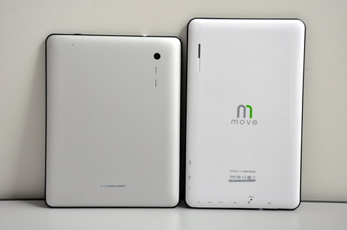 Metallic back cover is no longer exclusive to expensive tablets such as the iPad, as the MA900 has one. Using such an a casing makes the MA900 a bit more pricey than the fully plastic-clad MA1000.