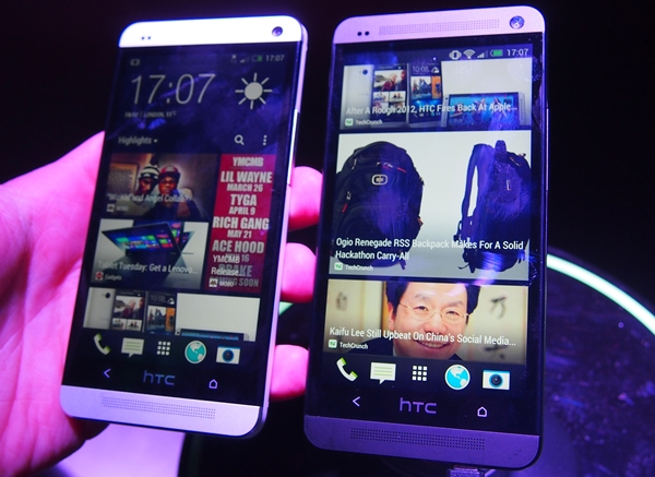 The HTC One is available in two colors: silver and black.