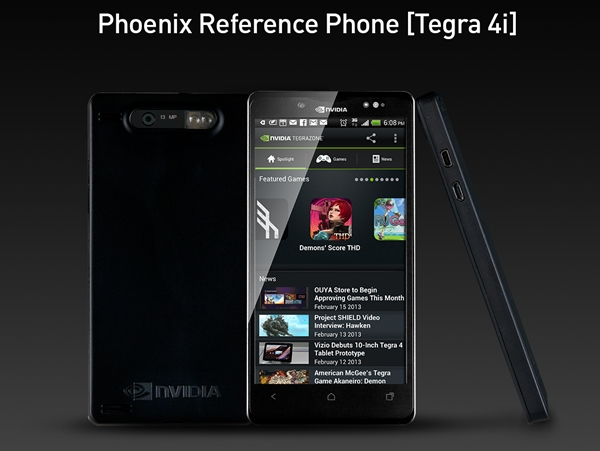 NVIDIA Tegra 4i Reference Design Platform for Smartphones <br> Image source: NVIDIA