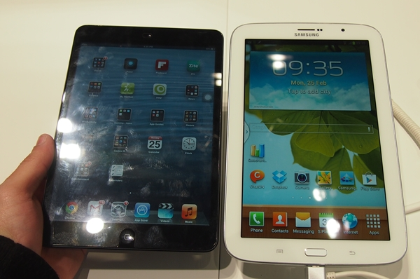 The Apple iPad mini vs the Samsung GALAXY Note 8.0