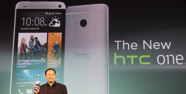 HTC CEO Peter Chou was on stage to unveil the One.
