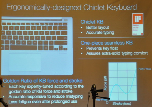 Responsiveness can also be associated with the hardware aspect of a notebook such as the keyboard and the touchpad.