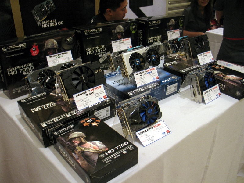 Graphics cards based on AMD's Radeon HD 7000 series GPUs from Sapphire.