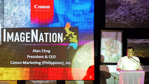 Alan Chng, President and CEO of Canon Marketing (Philippines), gave the opening remarks for the event.