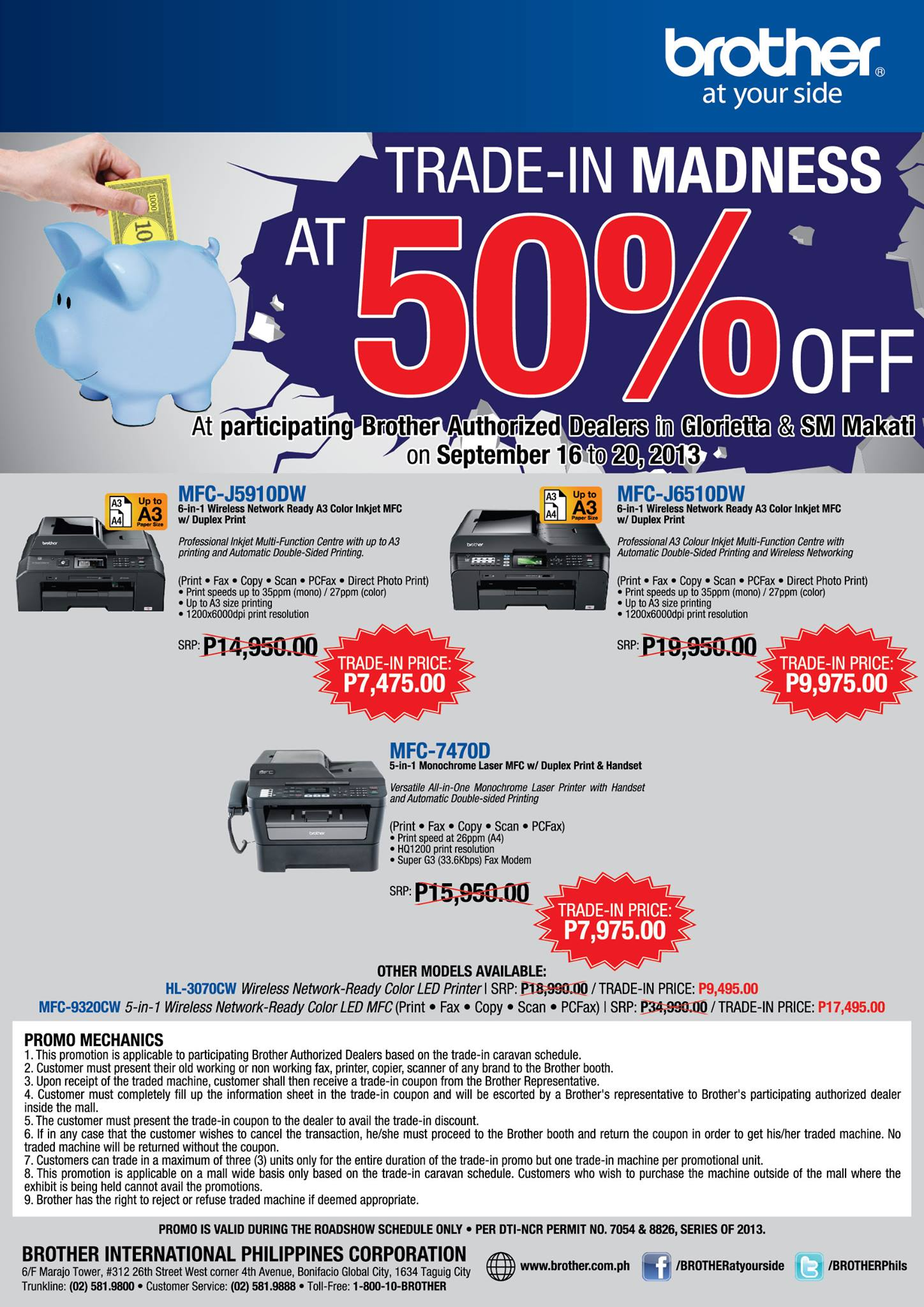 Brother Philippines Holds Trade In Promo For Printers