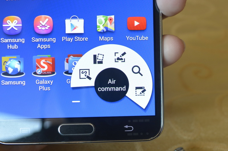 Here is a screenshot of Galaxy Note 3's air command interface.