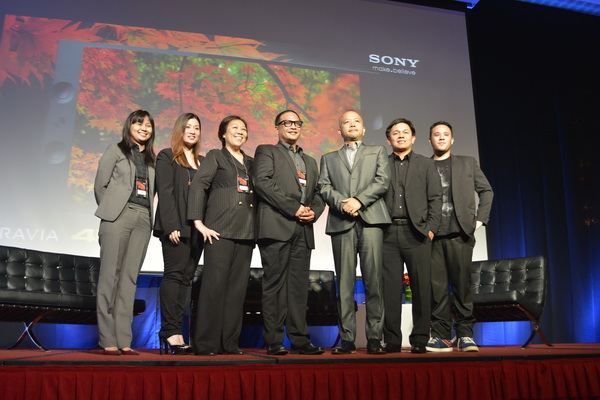 Sony Philippines executive together with some of the industry's major content creators at the local launch of Sony X Series BRAVIA 4K televisions.