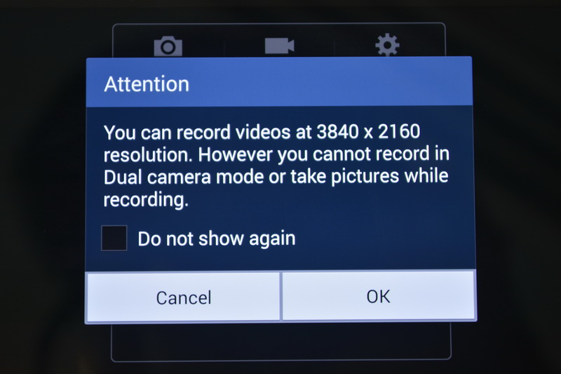 Powered by a Qualcomm Snapdragon 800 chip, the Galaxy Note 3 is capable of recording 4K videos (3840 x 2160). When 4K video recording is activated, note that other camera features are disabled. Click the image to watch an example of 4K video captured with the Galaxy Note 3.